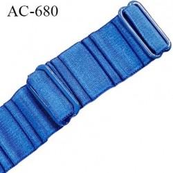 Bretelle 25 mm lingerie SG haut de gamme grande marque couleur bleu 2 barrettes largeur 25 mm longueur 32 cm prix à la pièce