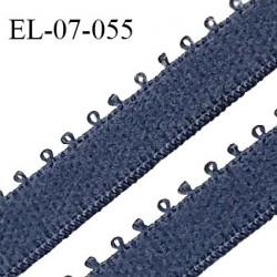 Elastique 7 mm bretelle et lingerie couleur encre bleue largeur 7 mm haut de gamme Fabriqué en France prix au mètre