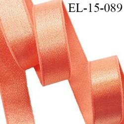 Elastique 16 mm bretelle et lingerie couleur goyave brillant fabriqué en France pour une grande marque prix au mètre