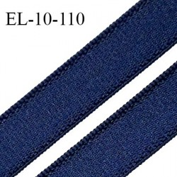 Elastique 10 mm lingerie haut de gamme couleur marine brillant bonne élasticité fabriqué en France largeur 10 mm prix au mètre