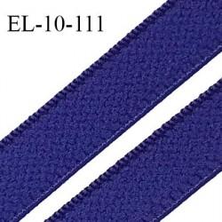 Elastique 10 mm lingerie haut de gamme fabriqué en France couleur bleu électrique élastique souple largeur 10 mm prix au mètre