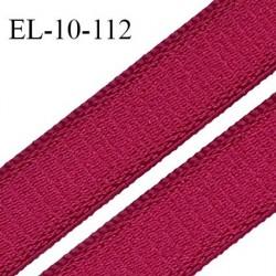 Elastique 10 mm lingerie haut de gamme couleur rubis brillant bonne élasticité fabriqué en France largeur 10 mm prix au mètre
