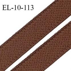 Elastique 10 mm lingerie haut de gamme fabriqué en France couleur marron chocolat élastique souple largeur 10 mm prix au mètre