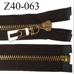 Fermeture zip 40 cm séparable couleur noir zip glissière métal doré largeur 6 mm longueur 40 cm