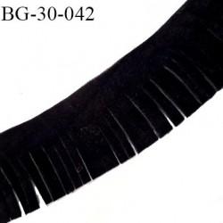Galon frange 30 mm couleur noir façon cuir ou daim très doux largeur 30 mm prix au mètre
