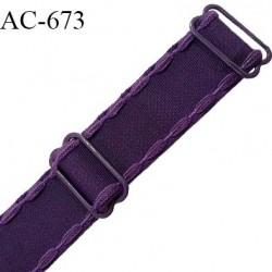 Bretelle 20 mm lingerie SG haut de gamme grande marque couleur chianti 2 barrettes largeur 20 mm longueur 42 cm prix à la pièce