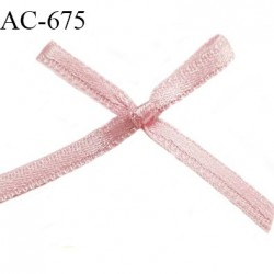 Noeud satin 26 mm lingerie haut de gamme couleur rose satiné largeur 26 mm hauteur 23 mm