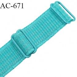 Bretelle 25 mm lingerie SG haut de gamme grande marque couleur horizon 2 barrettes largeur 25 mm longueur 42 cm  prix à la pièce