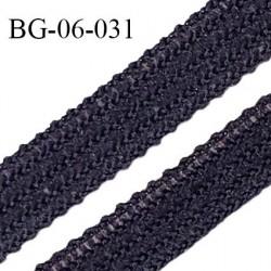 Droit fil à plat 6 mm spécial lingerie et couture couleur caviar fabriqué en France très agréable au toucher prix au mètre