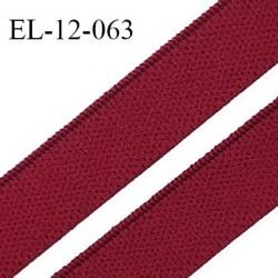 Elastique 12 mm lingerie et bretelle haut de gamme fabriqué en France élastique souple couleur grenat prix au mètre