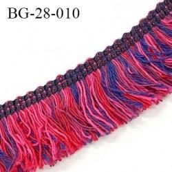 Galon frange 28 mm couleur rose violet et rouge largeur 28 mm prix au mètre