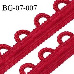 Galon boutonnière 7 mm spécial lingerie couleur rubis grande marque fabriqué en France prix au mètre
