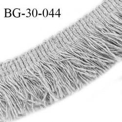 Galon franges 30 mm coton couleur gris largeur de bande 8 mm + 22 mm de franges prix au mètre