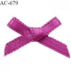 Noeud lingerie 20 mm satin haut de gamme couleur fushia largeur 20 mm hauteur 15 mm prix à l'unité
