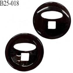 Bouton 25 mm en pvc 2 trous couleur noir diamètre 25 mm épaisseur 6 mm prix à l'unité
