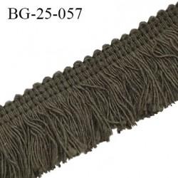 Galon franges 25 mm coton couleur vert kaki largeur de bande 7 mm + 18 mm de franges prix au mètre