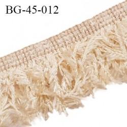 Galon franges 45 mm effet plumes couleur beige largeur bande 10 mm + 35 mm de franges prix au mètre