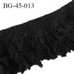 Galon franges 45 mm couleur noir largeur bande 10 mm + 35 mm de franges prix au mètre
