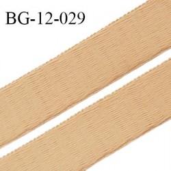 Devant bretelle 12 mm en polyamide attache bretelle rigide pour anneaux couleur peau haut de gamme largeur 12 mm prix au mètre