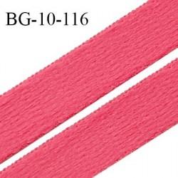 Devant bretelle 10 mm en polyamide attache bretelle rigide pour anneaux couleur rose haut de gamme prix au mètre