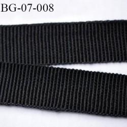 galon 7 mm ruban gros grain  couleur noir brillant très très solide et souple coton largeur 7 mm prix au mètre