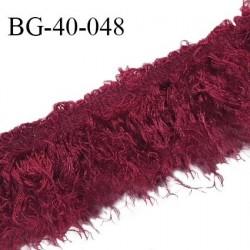 Galon franges 40 mm couleur bordeaux largeur de bande 10 mm + environ 30 mm de franges prix au mètre