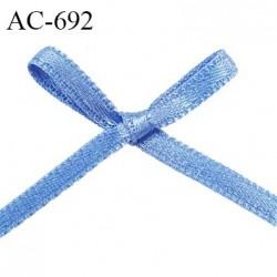 Noeud 25 mm lingerie couleur aigue marine bleu satin haut de gamme largeur 25 mm hauteur 22 mm haut de gamme