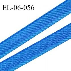 Elastique 6 mm fin spécial lingerie  couleur bleu royal grande marque fabriqué en France largeur 6 mm prix au mètre