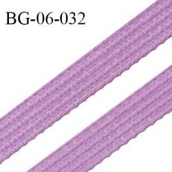 Droit fil à plat 6 mm spécial lingerie et couture couleur violet myosotis grande marque fabriqué en France prix au mètre
