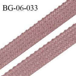Droit fil à plat 6 mm spécial lingerie et couture couleur bois de rose grande marque fabriqué en Franceprix au mètre