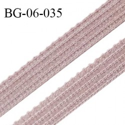 Droit fil à plat 6 mm spécial lingerie et couture couleur noisette grande marque fabriqué en France prix au mètre