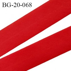 biais galon 20 mm pré plié  au dos 2 rabats de 10 mm  coton polyester couleur rouge largeur 20 mm prix au mètre