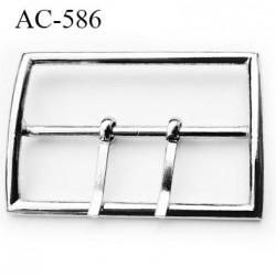 Boucle 70 mm avec double ardillons métal couleur chrome  largeur intérieur 70 mm largeur extérieur 8 cm  hauteur 5.4 cm