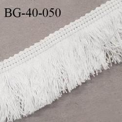 Galon franges 40 mm coton couleur écru largeur de bande 8 mm + 32 mm de franges prix au mètre