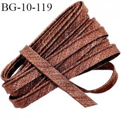 Passepoil 10 mm couleur bronze lurex superbe largeur 10 mm  lien coton intérieur 2 mm  largeur 10 mm  prix du mètre