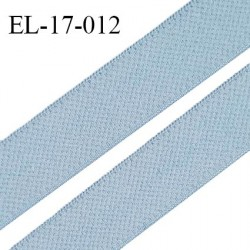 Elastique 17 mm haut de gamme fabriqué en France doux au toucher couleur bleu azzuro bain largeur 17 mm prix au mètre