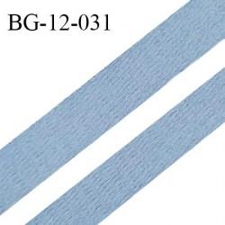 Devant bretelle 10 mm en polyamide attache bretelle rigide pour anneaux couleur bleu chambray haut de gamme prix au mètre