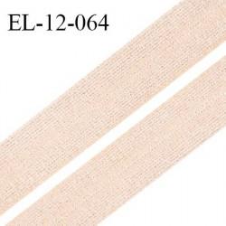 Elastique lingerie 12 mm haut de gamme pré plié couleur pêche clair ou conchiglia brillant superbe prix au mètre