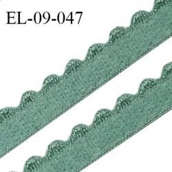 Elastique 9 mm lingerie haut de gamme couleur vert laurier fabriqué en France largeur 9 mm prix au mètre
