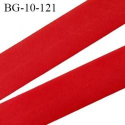 biais galon 10 mm pré plié  au dos 2 rabats de 10 mm  coton polyester couleur rouge largeur 10 mm prix au mètre