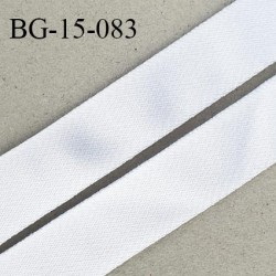 Devant bretelle 15 mm en polyamide attache bretelle rigide pour anneaux couleur blanc satiné haut de gamme prix au mètre