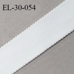 Elastique 30 mm lingerie et bretelle SG haut de gamme couleur blanc fabriqué en France prix au mètre