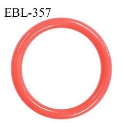 Anneau de réglage 15 mm en pvc couleur corail diamètre intérieur 15 mm diamètre extérieur 20 mm épaisseur 2 mm prix à l'unité