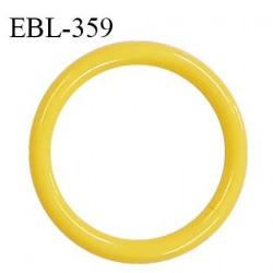 Anneau de réglage 16 mm en pvc couleur jaune diamètre intérieur 16 mm diamètre extérieur 20 mm épaisseur 2 mm prix à l'unité