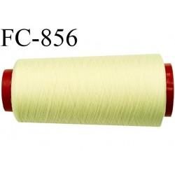 Cone 1000 m de fil mousse polyester  fil n° 112 couleur jaune clair  cone de 1000 mètres bobiné en France