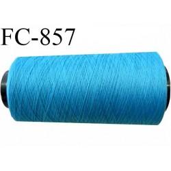 CONE 1000 m fil Polyester Coats épic fil n°120 couleur bleu 1000 m bobiné en France résistance à la cassure 1000 grammes