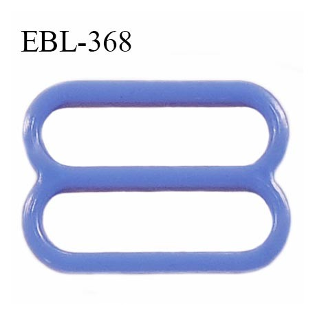 Réglette 19 mm de réglage de bretelle en pvc bleu largeur intérieure 19 mm hauteur 16 mm largeur extérieure 22 mm prix à l'unité