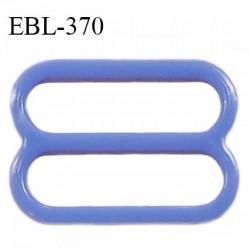 Réglette 17 mm de réglage de bretelle en pvc bleu largeur intérieure 17 mm hauteur 16 mm largeur extérieure 20 mm prix à l'unité