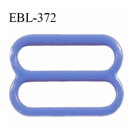 Réglette 15 mm de réglage de bretelle en pvc bleu largeur intérieure 15 mm hauteur 16 mm largeur extérieure 18 mm prix à l'unité
