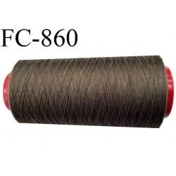 CONE 2000 m fil Polyester Coats épic fil n°120 couleur taupe 2000 m bobiné en France résistance à la cassure 1000 grammes